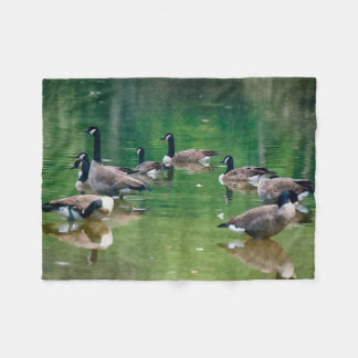 Canadian Geese oil painting design fleece blanket