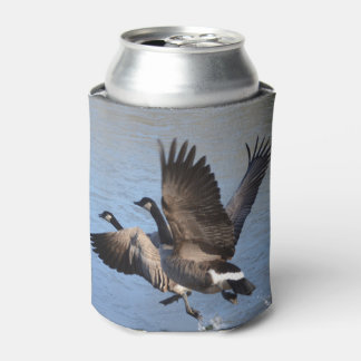 Canadian Geese Taking Flight Can Cooler