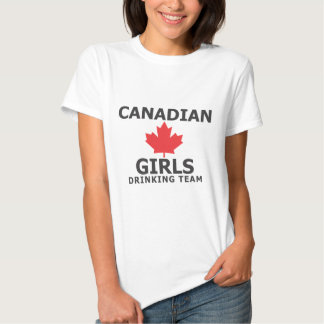 Canadian girls drinking team tee shirts
