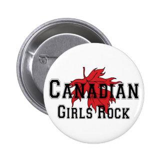 Canadian Girls Rock 2 Inch Round Button