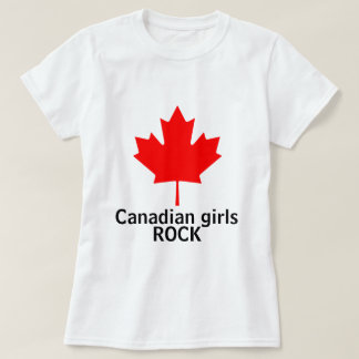 Canadian Girls Rock ladies shirt