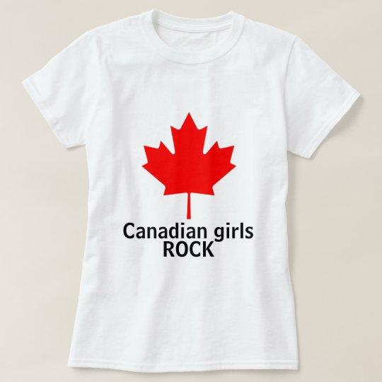 Canadian Girls Rock ladies shirt