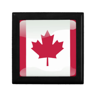 Canadian glossy flag jewelry box