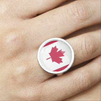 Canadian glossy flag ring