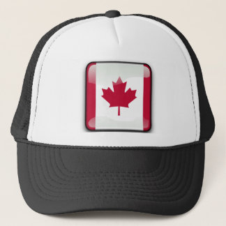 Canadian glossy flag trucker hat