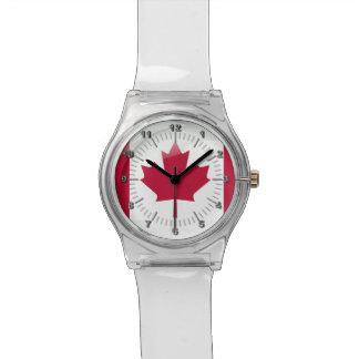 Canadian glossy flag watch