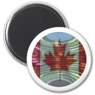 Canadian Gold MapleLeaf - Success in Diversity 2 Inch Round Magnet