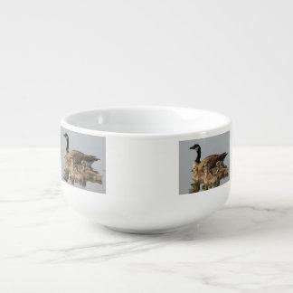 Canadian Goose And Goslings Soup Mug