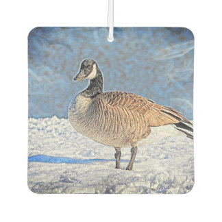 Canadian goose in the snow air freshener