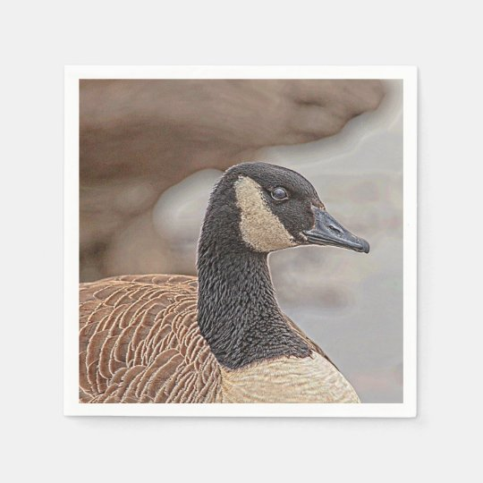 Canadian Goose Portrait Disposable Napkins