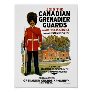 Canadian Grenadier Guards Poster