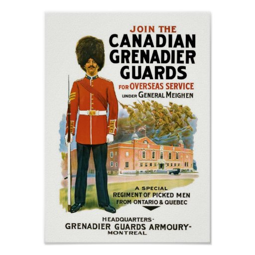 Canadian Grenadier Guards Recruitment Poster