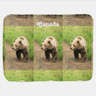 Canadian Grizzly Swaddle Blanket