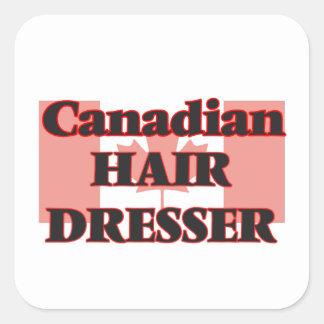 Canadian Hair Dresser Square Sticker
