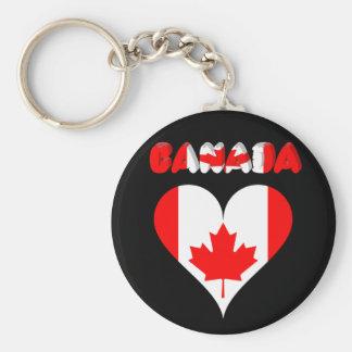 Canadian heart keychain
