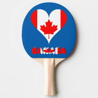 Canadian heart ping pong paddle