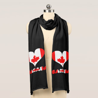 Canadian heart scarf