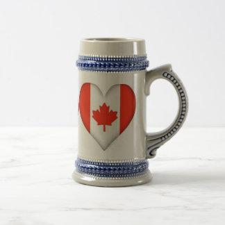 CANADIAN HEART STEIN 18 OZ BEER STEIN