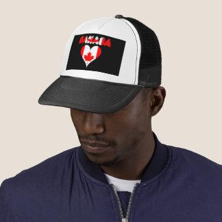 Canadian heart trucker hat