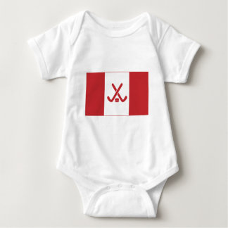 Canadian Hockey Flag Baby Bodysuit