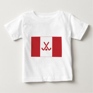 Canadian Hockey Flag Baby T-Shirt