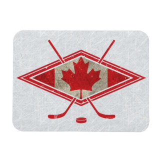Canadian Hockey Flag Logo Magnet