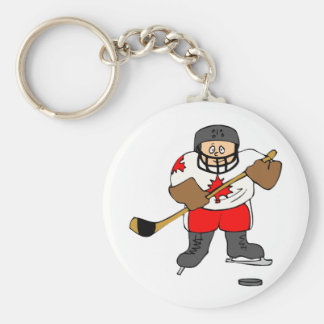 Canadian Hockey Player Keychain
