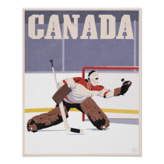 Canadian Hockey Poster