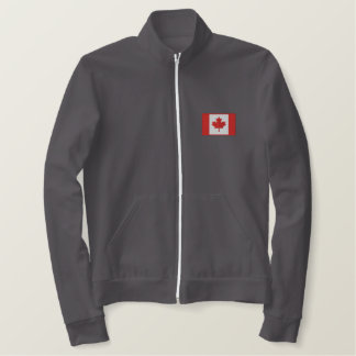 Canadian Hockey  with Maple Leaf flag Embroidered Jacket