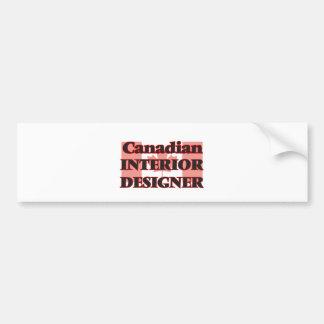Canadian Interior Designer Bumper Sticker