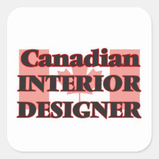 Canadian Interior Designer Square Sticker