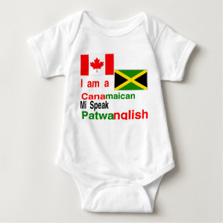 Canadian jamaican baby bodysuit