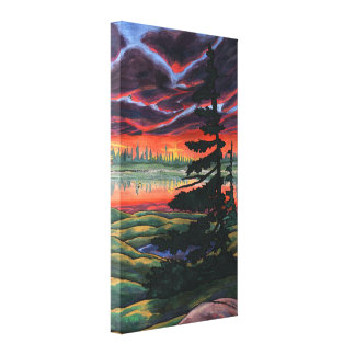 Canadian Landscape Painting Print Canvas Small Canvas Print