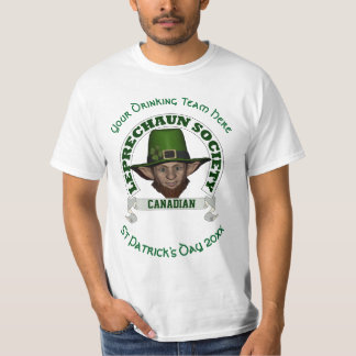 Canadian leprechaun custom St Patrick's day T Shirt