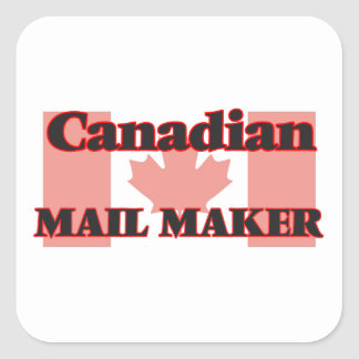 Canadian Mail Maker Square Sticker