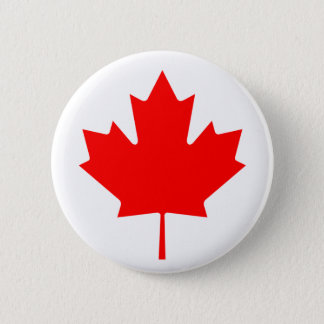 Canadian Maple Leaf 2 Inch Round Button