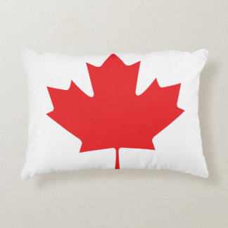 Canadian Maple Leaf Accent Pillow