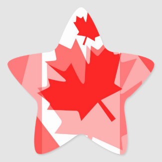 Canadian Maple Leaf all over Style CANADA Star Sticker