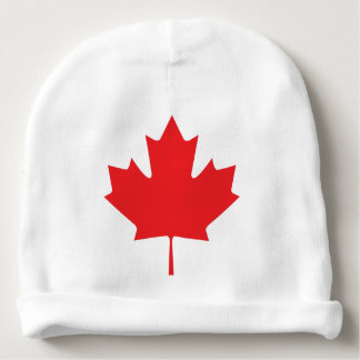Canadian Maple Leaf Baby Beanie