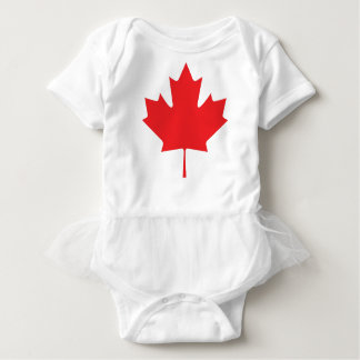Canadian Maple Leaf Baby Bodysuit