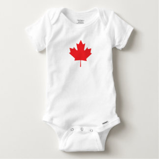 Canadian Maple Leaf Baby Onesie