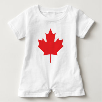 Canadian Maple Leaf Baby Romper
