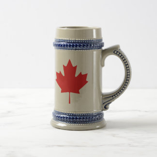 Canadian Maple Leaf Beer Stein