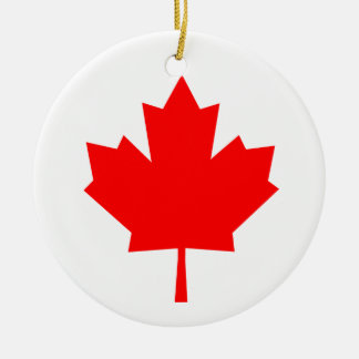 Canadian Maple Leaf Ceramic Ornament