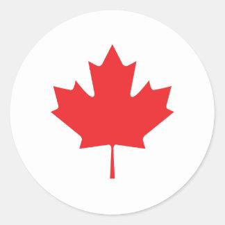 Canadian Maple Leaf Classic Round Sticker