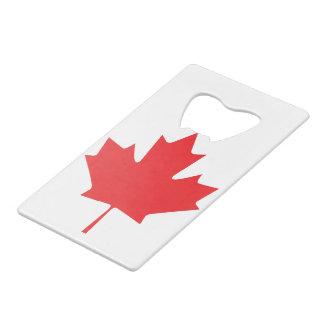 Canadian Maple Leaf Credit Card Bottle Opener