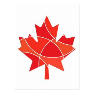 Canadian Maple leaf design Postcard