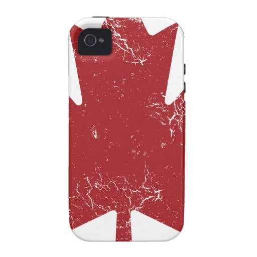 Canadian Maple Leaf (Distressed) iPhone 4/4S Covers