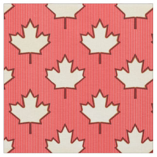 Canadian Maple Leaf Fabric