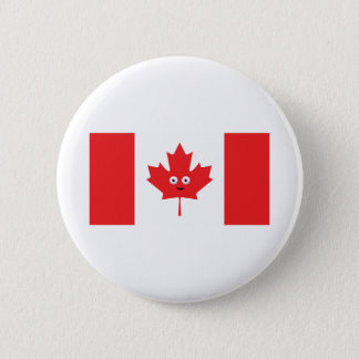 Canadian Maple Leaf Face 2 Inch Round Button